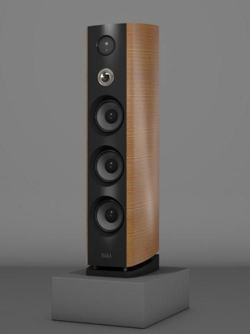 Prime12 - Franzoesische Eiche Medium gloss - HT Silber - FFD Negro Intenso - Side