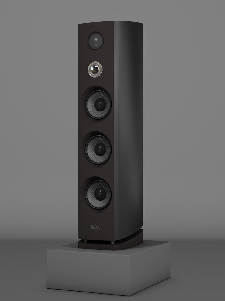 Prime12 - Negro Intenso - HT Silber - FFD Nextelgrau - Side