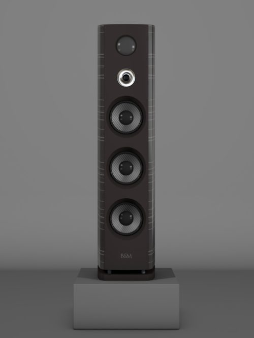 Prime12 - Ebenholz Grigio medium gloss - HT Silber - FFD Nextelgrau - Front