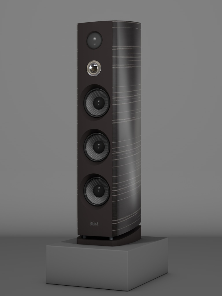 Prime12 - Ebenholz Grigio medium gloss - HT Silber - FFD Nextelgrau - Side