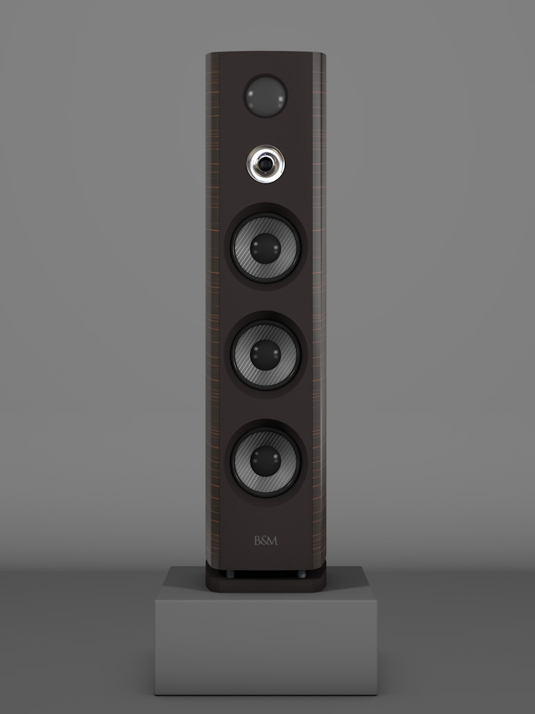 Prime12 - Ebenholz Moro medium gloss - HT Silber - FFD Nextelgrau - Front