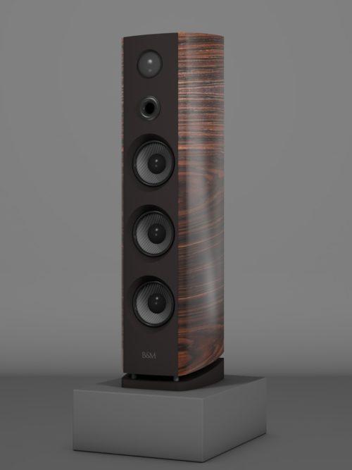 Prime12 - Macassar tricolore medium gloss - HT Schwarz - FFD Nextelgrau - Side