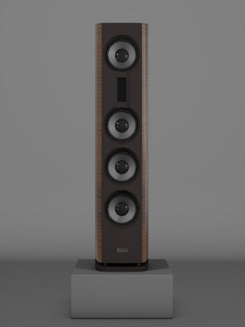 Prime14 - Amerikanischer Nussbaum medium gloss - FFD Nextelgrau - Front