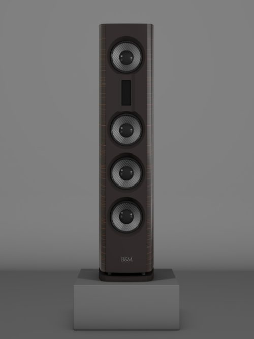 Prime14 - Ebenholz Moro medium gloss - FFD Nextelgrau - Front
