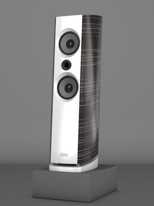 Prime6 - Ebenholz Grigio medium gloss - FFD Bianco Crema - HT Schwarz - Side