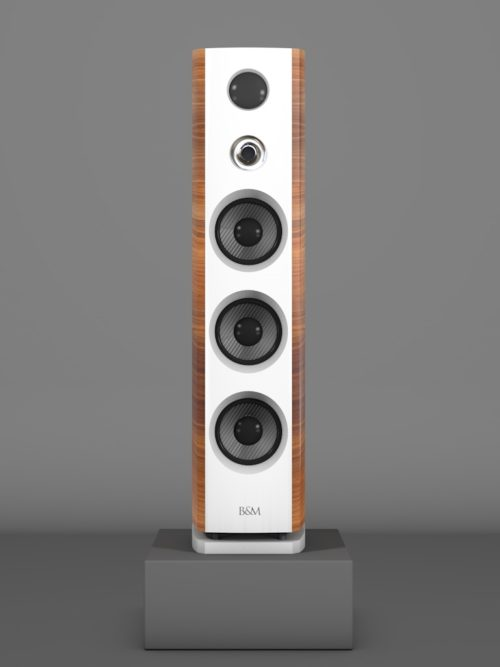 Prime12 - Amerikanischer Nussbaum medium gloss - FFD Bianco Crema - HT Silber - Front
