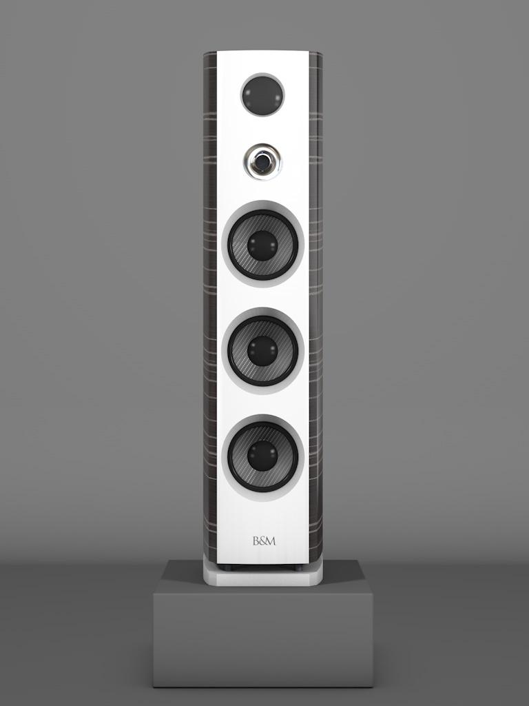 Prime12 - Ebenholz Grigio medium gloss - FFD Bianco Crema - HT Silber - Front