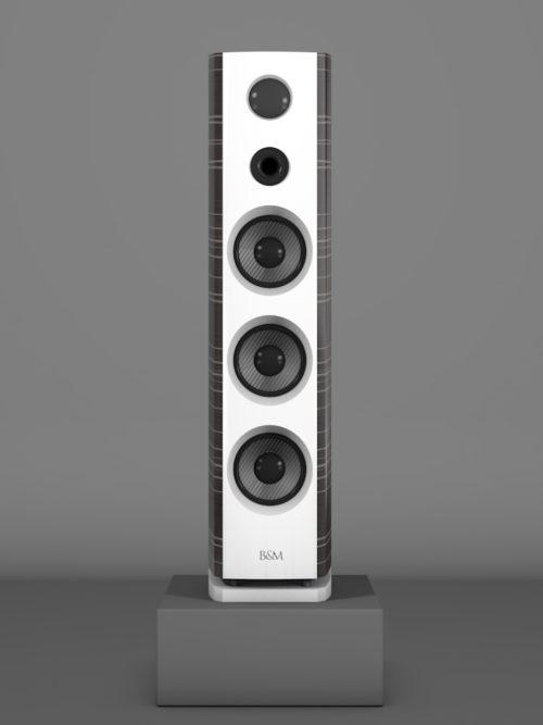 Prime12 - Ebenholz Grigio medium gloss - FFD Bianco Crema - HT Schwarz - Front