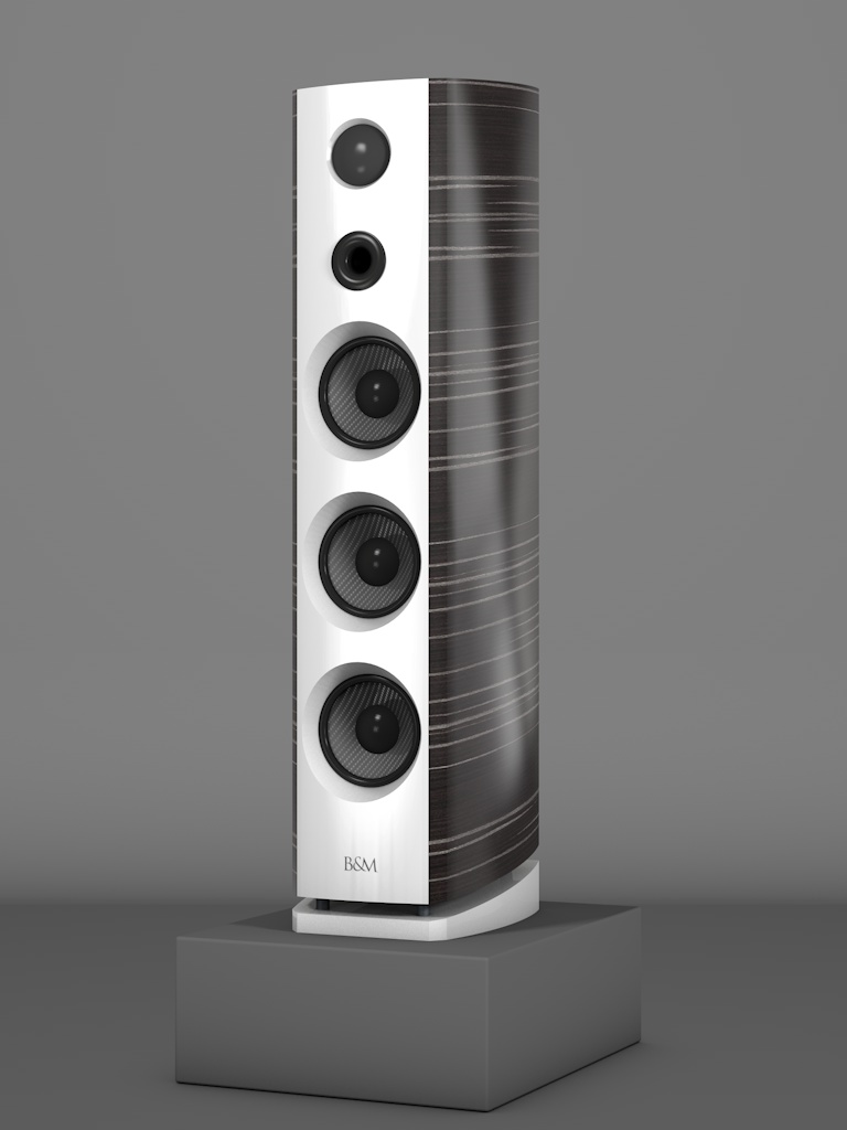 Prime12 - Ebenholz Grigio medium gloss - FFD Bianco Crema - HT Schwarz - Side